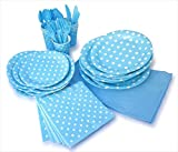 LolliZ party pack for 8, blue and polka dots