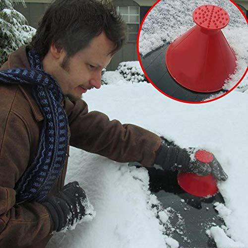 TPulling Eiskratzer Auto Rund Windschild Eiskratzer EIN Rundes Cone Shaped Scraper Schaufel Schneeräumung FensterreinigungswerkzeugEisschaber