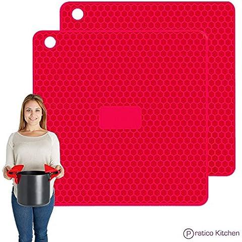 Pratico Cucina pratipad Plus 4in 1multiuso in silicone, presina, sottopentola,
