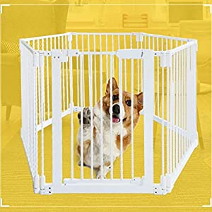 Metal Fireplace Fence Pet Playpen/Safety Gate/Safety Barrier/Stove & Fire Guard/Room Divider (Color : Height 78cm, Size : Panel 1+7)   4