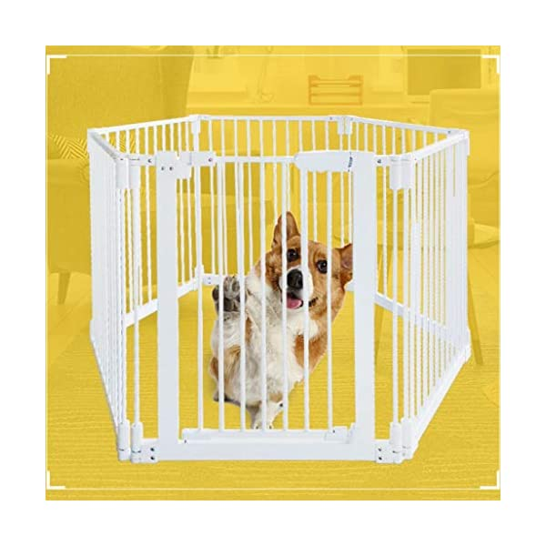 Metal Fireplace Fence Pet Playpen/Safety Gate/Safety Barrier/Stove & Fire Guard/Room Divider (Color : Height 78cm, Size : Panel 1+7) Huo ● pet playpen materials: strict selection of standard safety materials ABS plastic +Seamless steel pipe + environmental protection paint ●Automatic rebound: automatic rebound when less than 90°, normally open when greater than or equal to 90°,Open door size increased to 44cm for Easy access ● Scalable and ideal private space: The size of each piece of iron net is 64 x 78 cm. Our fence for pets allows the free installation and adaptation of the right room to your needs. It can be the private room of a pet, a playground or a delivery room to soothe the care. 1