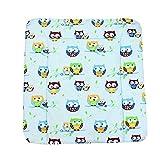 TupTam Baby Wickeltischauflage mit Baumwollbezug Gemustert, Farbe: Muster 1, Größe: 75 x 85 cm