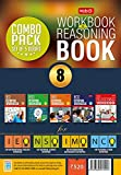 Class 8: Work Book and Reasoning Book Combo for NSO-IMO-IEO-NCO