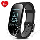 "Fitness Tracker Heart Rate,CAMTOA Z17 Bluetooth4.0 Exercise Tracker/Smart Fitness Wristband/Smart Watch/Heart Rate Monitor/Smart Fitness Bracelets Activity/Pedometer Wristband Sleep Tracker-Call Notification,Sedentary Reminder,IP67Waterproof,0.96""OLED for Android & iOS Smartphones iPhone Samsung"