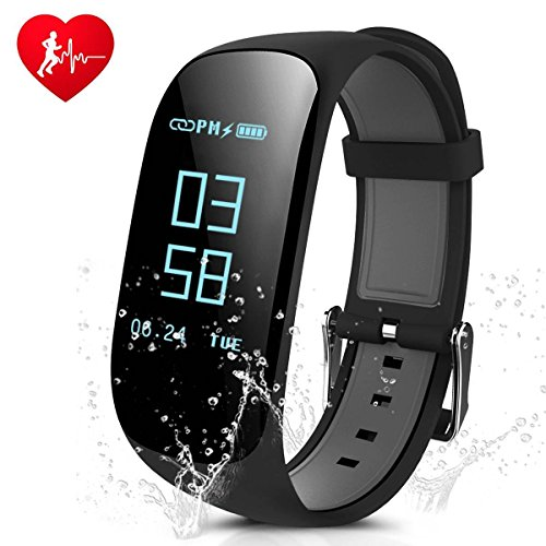 Fitness Tracker, CAMTOA IP67 Impermeable Pulsera de Fitness, Bluetooth