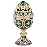 Design Toscano qf87081 the collection of Esmeralda faberge-Style enameled minishka Egg