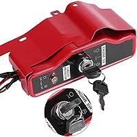 Zerodis Interruptor de encendido 4 cables 2 llaves para motor de gas Honda GX390 13HP GX340 11HP 168F GX160