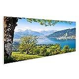 Bild Bilder auf Leinwand Schöne Landschaft mit Alpen und