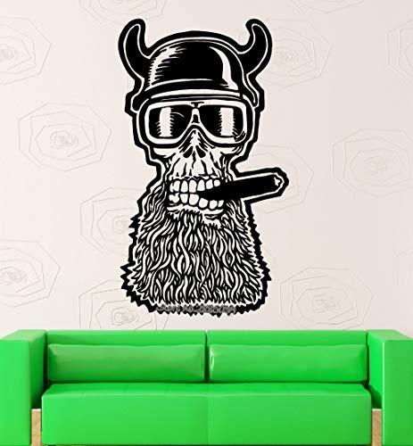 hllhpc Design Unico Skull Adesivo Moto Casco Wall Sticker Vinyl Decalcomanie Art Living Room Divano Sfondo Decor Wallpaper 42 * 73 cm