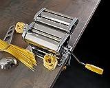axentia Nudelmaschine in Silber, verchromter Pastamaker für Lasagneplatten, Spagetthi oder Bandnudeln, Pastamaschine manuell mit Kurbelantrieb, Pasta-Maschine für Hobbykoch oder Profi - 10