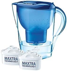 Brita Wasserfilter Marella XL, blau, Vorteilspaket inklusive 2 Kartuschen