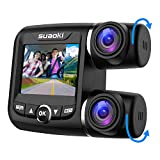 Dual Dash Cam Front and Rear Full HD 1080p with Night Vision, 340°