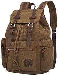 Preisvergleich für Herren Damen Rucksäcke Rucksack Canvas Vintage Schulrucksack Backpack Daypack für Campus Studenten und Outdoor...