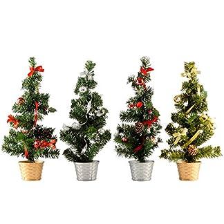 Geschmckter-Baum-Weihnachtsbaum-Weihnachts-Deko-Knstlicher-Weihnachtsbaum-Christmas-gifts-4Stk-im-Set-a-36cm-Inkl-Korbstnder