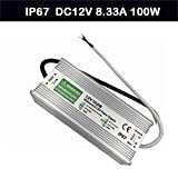 100W, 120W.150W LED Trafo Netzteil Treiber Adapter IP67Wasserdicht DC 12V für LED Leuchtmittel Strip - 100 Watts