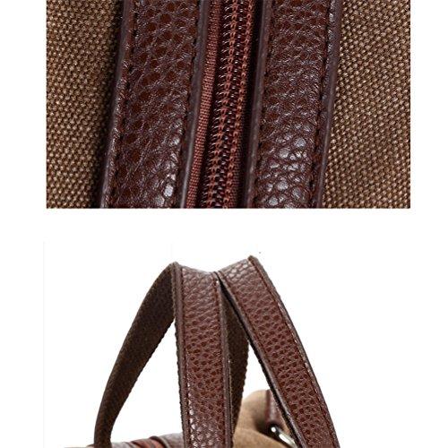 Honeymall Canvas Große Umhängetaschen Crossbody Messenger Tasche Einkaufstasche(Khaki) Khaki