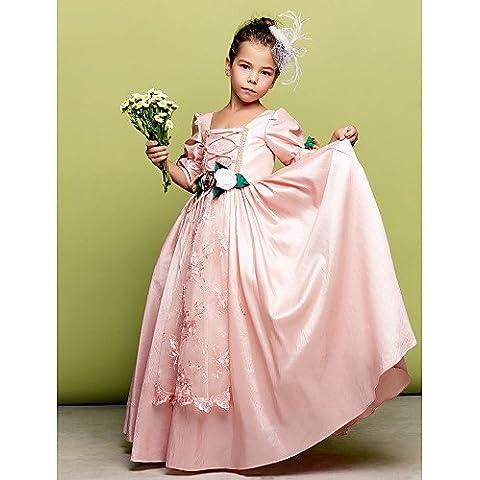 ZY/ Trapezio/Stile Principessa - Quadrato - A Terra - Flower Girl Dress , brown , child-6