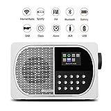 LEMEGA M2+ Tisch Smart Radio mit Wi-Fi, Internet Radio, Spotify, Bluetooth, DLNA, DAB, DAB+, UKW-Radio, Uhr, Alarme, Voreinstellungen und Wireless App Control - Satinweiß