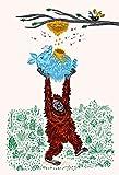 iota illustration Wild Honig–Kunstdruck Poster Oliver Lake