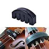 #7: AST Works 1Pc Violin Practice Mute Heavy Black Rubber Violin Silencer Acoustic Electric &