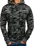 BOLF Herren Kapuzenpullover Militär Sweatshirt J.Style DD129-1 Dunkelgrau M [1A1]