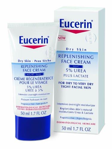 Eucerin Trockene Haut Auffüllen Gesichtscreme Nacht 5% Harnstoff Mit Laktat 50Ml