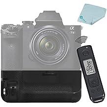 Meike MK-A7II Pro incorporado 2.4 GHz Control inalámbrico empuñadura con batería para Sony A7 II Sony VG-C2EM + Mcoplus paño de limpieza
