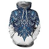 Kanpola Kapuzenpullover Herren Damen 3D Druck Hoodie Sweatshirt Sweat Sweatjacke Printed Pullover mit Kapuze,002