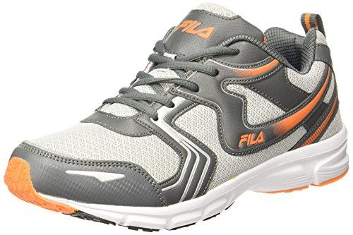 Fila Men's Barrel IV Grey/ Lite Grey/ Orange Running Shoes - 9 UK/India (43 EU)