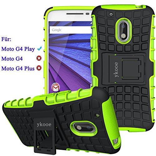 ykooe Smartphone Schutzhülle Ständer für Lenovo Moto G4 Play Handys Hülle [5 Zoll]