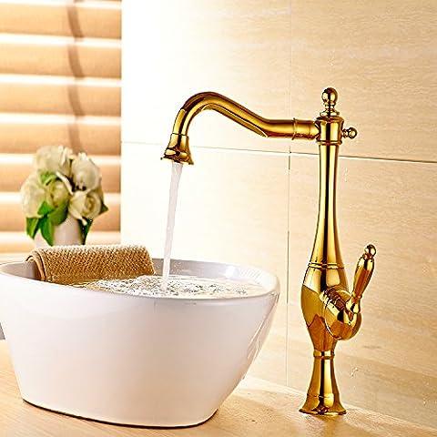 Sun-european Style Unique Poignée de salle de bain Lavabo Robinet Bronze huilé robinet mélangeur de lavabo,