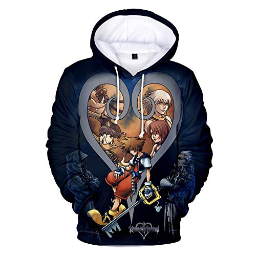 MRNLLL Kapuzenpullover,Kingdom Hearts3D Unisex-Kapuzenpullover Mit Digitaldruck, Lässiger Und Samtiger Kapuzenpullover -