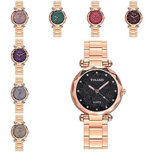 Mymyguoe Reloj de dial prismático Reloj Mujer Relojes Hombre Unisex Reloj de Pulsera Relojes de Pulsera para Hombres Reloj Mujer Reloj analogico Reloj de Dama