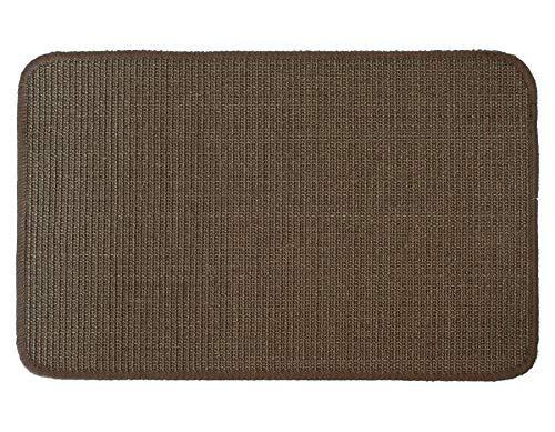 Primaflor - Ideen in Textil Katzen-Kratzmatte Katzenteppich - Braun 0,40m x 0,60m, 100{1c85d41fe941086850e784114bc6cd9b0d5a29c3b738a33e4df711a4f4fe4ef2} Sisal, Rutschhemmend - Sisal-Matte, Geeignet für Fußbodenheizung, Sisalteppich für Wand & Boden