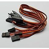 MR-Onlinehandel ® 5 Stück 30cm Servo Verlängerungskabel JR/Graupner 26AWG mit Haken/Sicherung