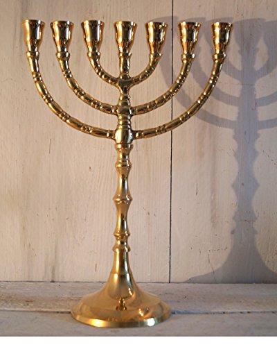 Kerzenleuchter Menora Gold Davidleuchter aus Messing