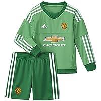 adidas MUFC H GK Mini - Chándal para niño, color verde / blanco