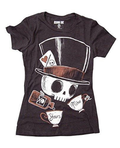 Akumu Ink Tea Party T - Shirt Tattoo Gothic - Girlie Schwarz