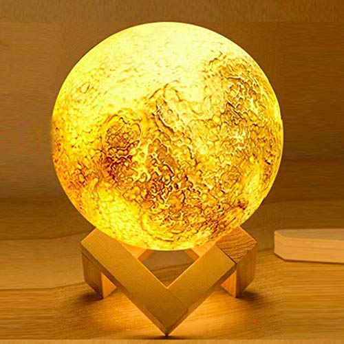 HY Luz De Noche Luz De Luna En 3D con Base De...