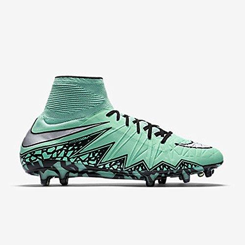 Nike Herren Hypervenom Phantom II FG Fußballschuhe, Mehrfarbig-Multicolore-Azul / Negro / Plateado (Grn Glw/Mtllc Slvr-Hypr Orng-B), 44 1/2 EU