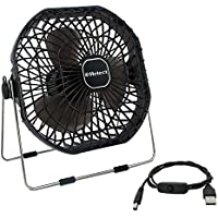 Helect USB Fan, 18cm Frame Mini USB Table Desk Personal Fan Quiet Rotatable (Black) - H1055