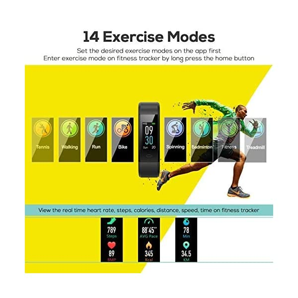 CHEREEKI Pulsera Actividad, Fitness Tracker IP68 Impermeable 14 Modos de Ejercicio 4