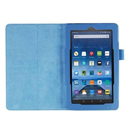 lgking supply Schutzhülle aus PU Leder Halter für Amazon Kindle Fire HD 72015Tablet (schwarz) -