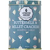 Monsoon Harvest Buttermilk and Millet Crisp Baked Crackers, Roasted Garlic, 100g