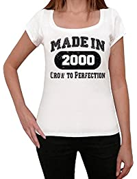 2000, tshirt femme anniversaire, cadeau femme, anniversaire cadeaux femme