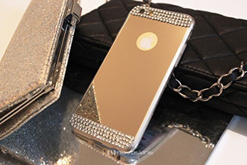 "iPhone 6s / 6 (4.7"") Novoskins Gold Oro Mirror Specchio Reflector Luxe Cristallo Glam Case"