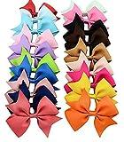 Honearn 20pcs Baby Girls Hair Bows Boutique Alligator Clip Barrettes Ribbon Headband