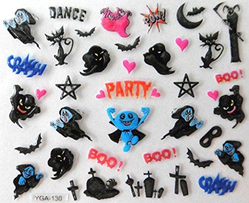 nail art , scrapbooking - Stickers autocollants Halloween (130)