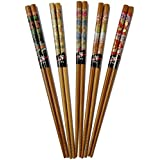 Five Pairs Of Decorated Japanese Chopsticks