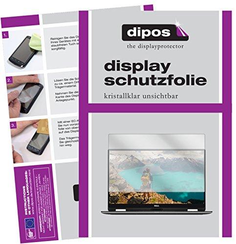 dipos I 2X Schutzfolie klar passend für Dell XPS 13 2-in-1 (9365) Folie Displayschutzfolie